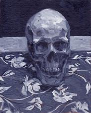 Skull, Oil on Canvas, 9x12