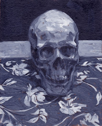 Skull, Oil on Canvas, 9x12