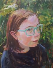 Audrey, Oil on Panel, 18x24
