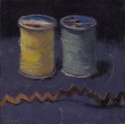 Thread, Oil on Panel, 5x5