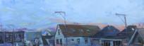 Rooftops, Oil on Wood Panel, 24x48