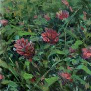 Wildflowers 2, Oil on Panel, 5 x 5