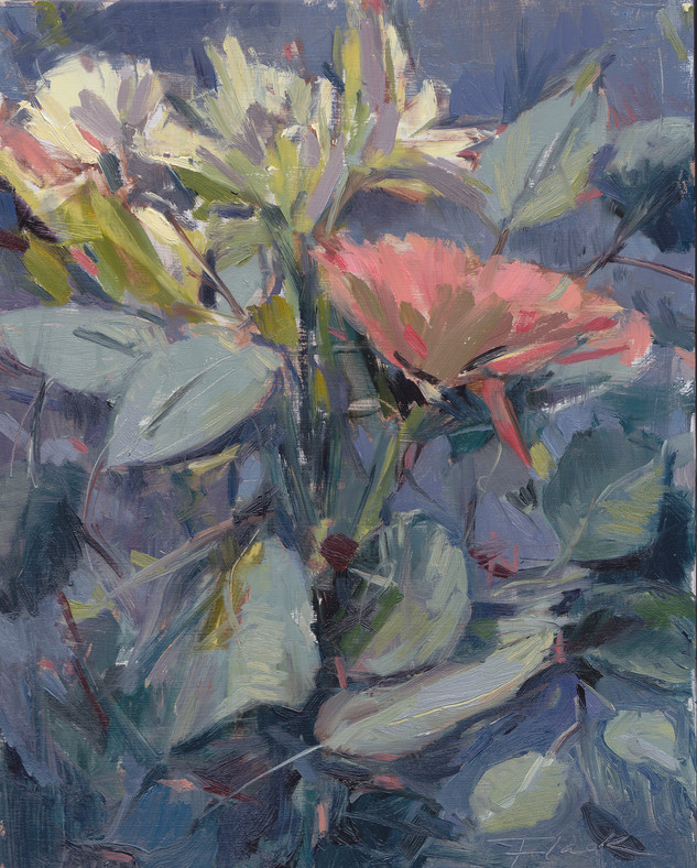Floral 4, Oil on Canvas, 9 x 12