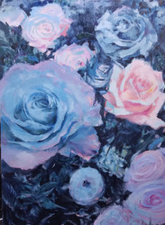 Roses, Oil on Canvas, 36 x 48