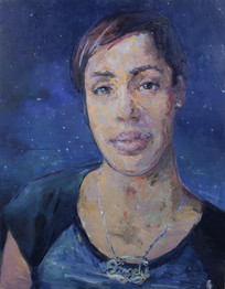 Angely, Oil on Wood Panel, 24x18