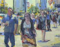 Passerby 3, Oil on Canvas, 9x12