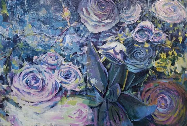 Roses 2, Oil on canvas, 24 x 30
