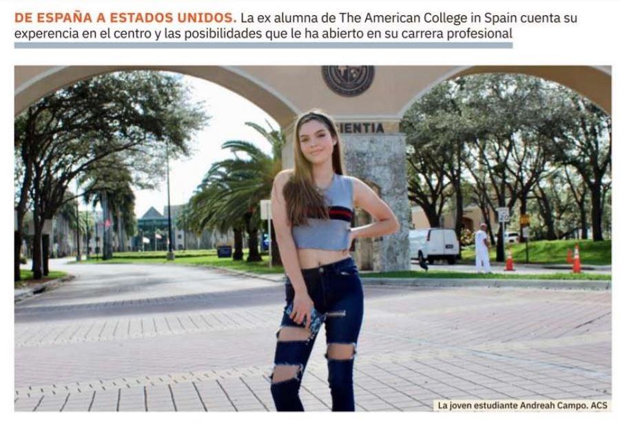 Chica estudiante americana en España