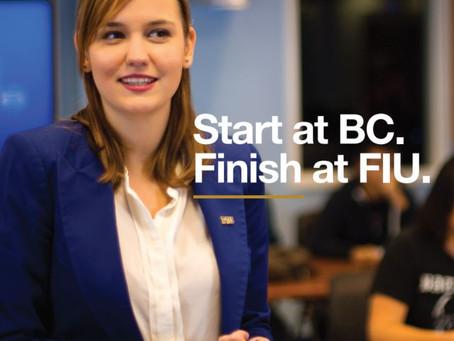 Start at BC. Finish at FIU.
