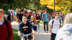 Estudiantes en la Universidad de Nebraska