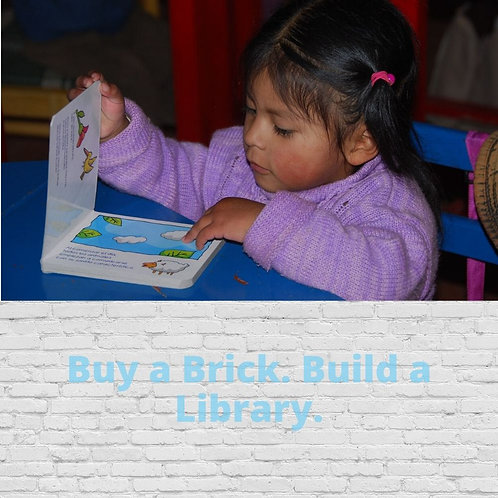 Buy A Brick. Build A Library.