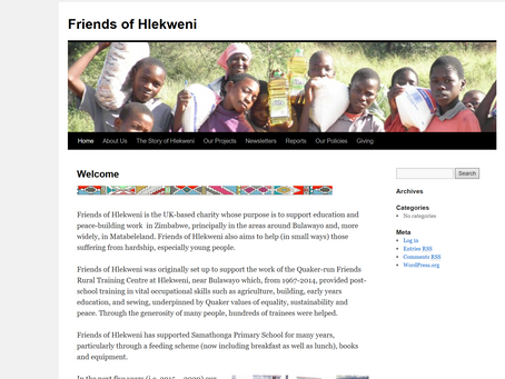 Our meeting continues to support the 'Friends of Hlekweni' charity and their work in Zimbabw