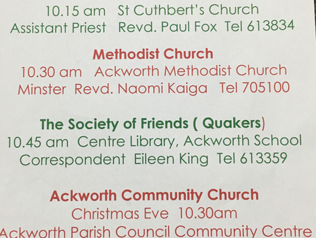 Christmas Day Services in Ackworth