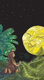 La ciguapa encantada por la luna