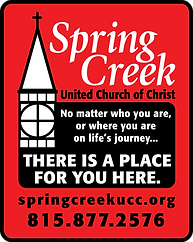 There is a place for YOU here, logo and creeds of Spring Creek UCC