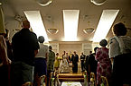 wedding service in Spring Creek UCC's light-filled sanctuary