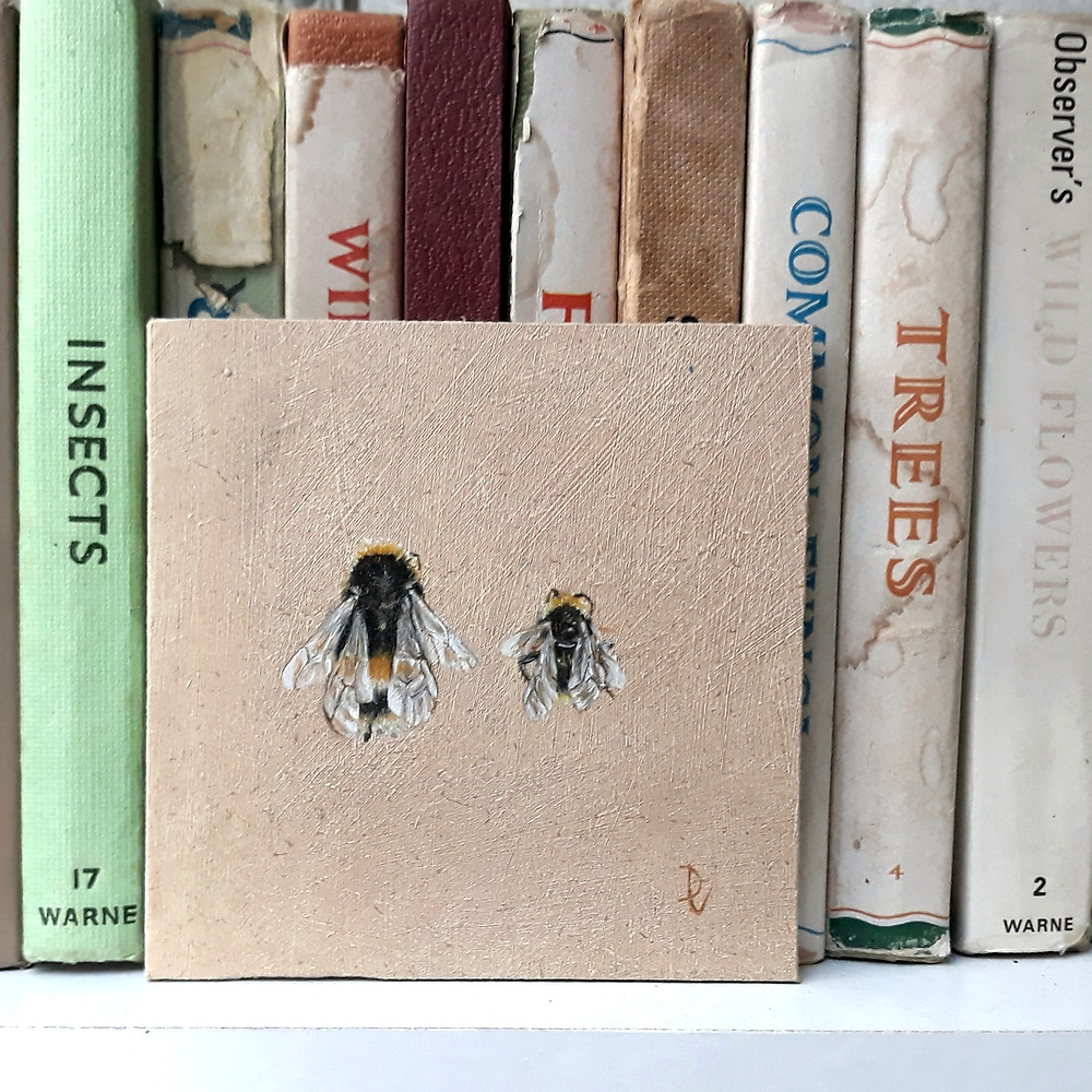 Two Bees Oil Painting