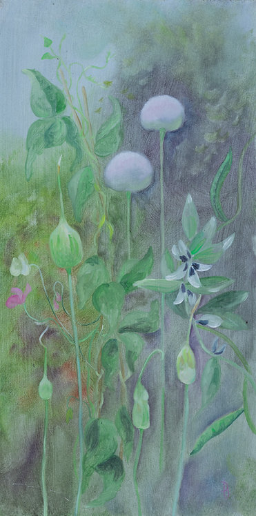 Leeks and broad beans