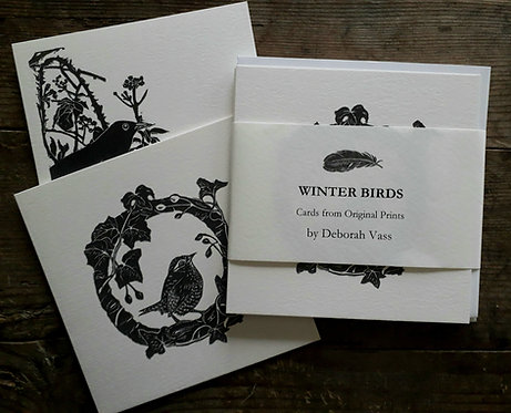 Winter Birds 4 Card Collection