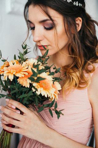 Свадебный букет невесты из гербер