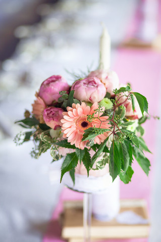 Летняя свадьба в розовом цвете и стиле рустик