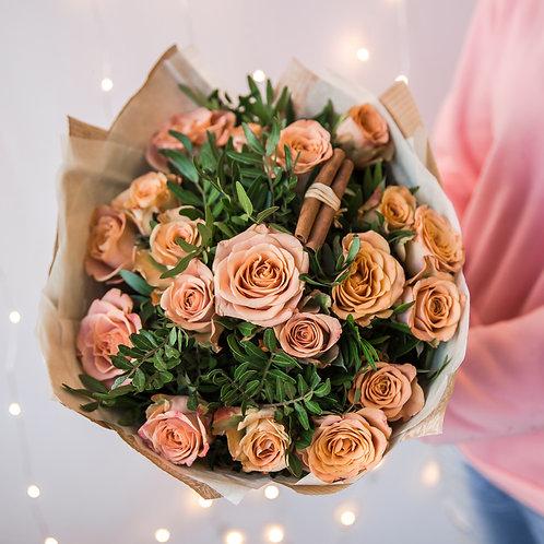роза капучино букет