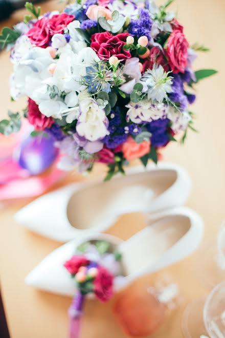 Ягодный букет невесты
