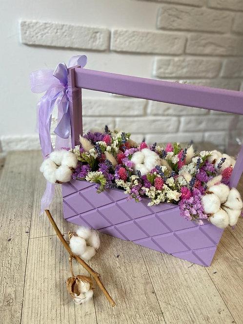 Лавандовый ящик с сухоцветами