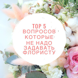 TOP 5 вопросов которые НЕ НАДО задавать флористу. Part I