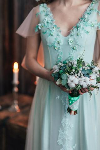 Букет невесты из хлопка