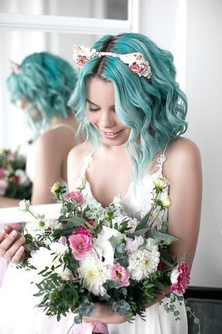 Растрепанный букет невесты без пионов