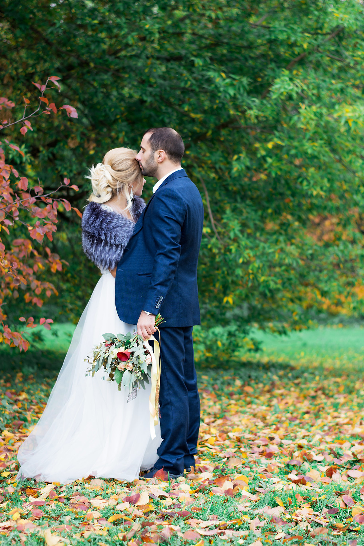 Осенний букет невесты растрепыш каллы