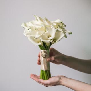 Свадебный букет невесты из калл