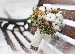 Каким должен быть букет для свадьбы в декабре