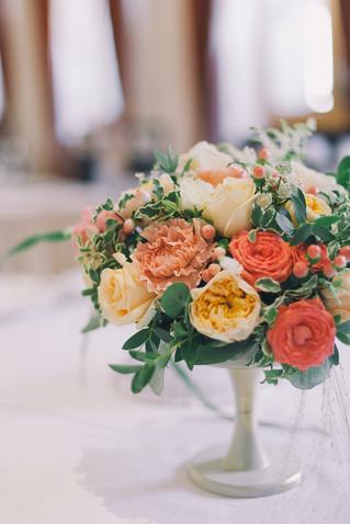 Классическая свадьба. Оформление зала