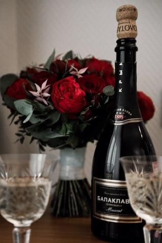 2021 начался с создания свадебного букета из пионовидных роз