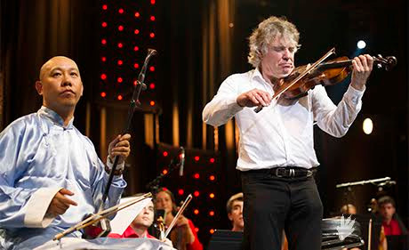 Guo Gan avec Didier Lockwood in Jazz in Marciac (JIM2014)