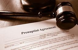 Prenuptial agreement and gavel