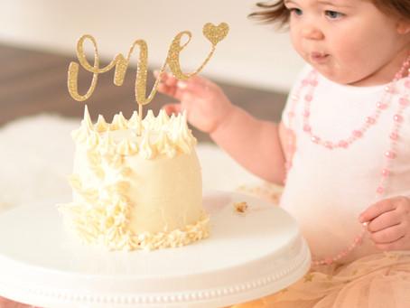 Cake Smash - First Birthday - One year old - In Studio - Waukesha - Baby Girl - Lake Country