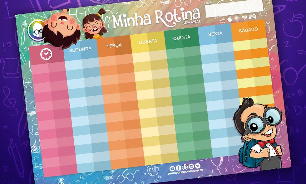 PLANNER MINHA ROTINA OMUNDODEOTAVIO