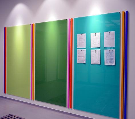 Chat Board glastavler i forskellige farver