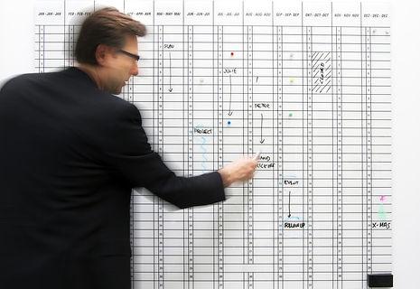 Chat Board Planner glastavle