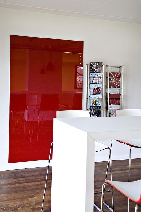 Chat Board rød glastavle