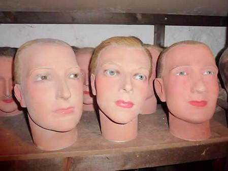 Wax Mannequin Heads