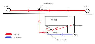 Plan of sewer connected to main sewer in