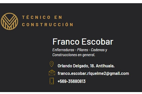 Servicios de construcción Franco Escobar