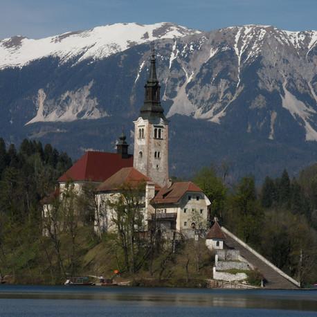 En tortillard au lac de Bled (Slovénie)