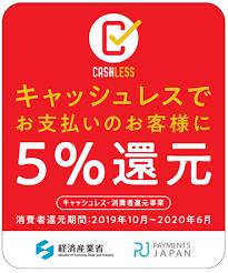 キャッシュレス・ポイント 5%還元