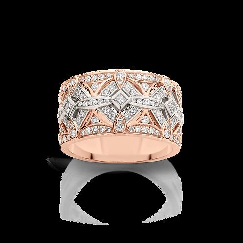 Rose/White Gold Diamond Ring