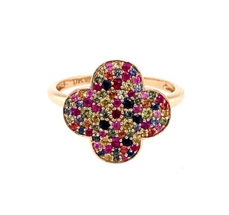 Multi coloured Sapphire Ring